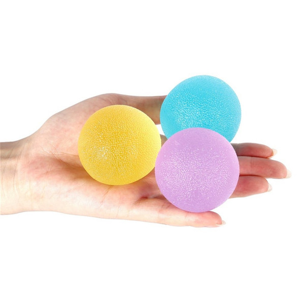 3pcs Hand Finger & Grip Strengthening 3 Resistance Level Soft/Medium/Firm Exercise Squeeze Therapy Stress Round Balls Drop Ship