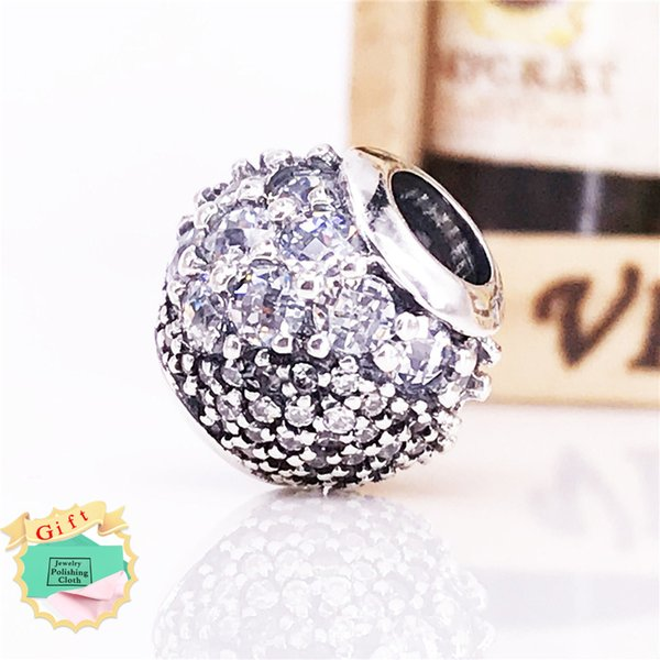 2018 Spring new Authentic 925 Sterling Silver Enchanted Pavé Charm Fits European DIY Style Jewelry Bracelets & Necklace 797032CZ