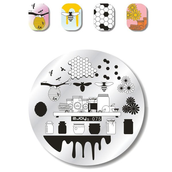 Nail Stamping Plates New ZJOY Series Bee Cute Cartoon Dog Buerfly Flower Stencils For Nails Design Nail Art Template Manicure
