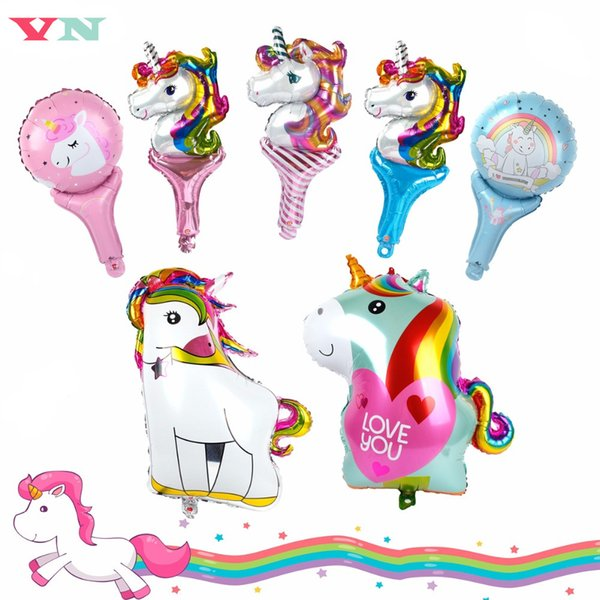 VN Unicorn Foil Balloons Kids Birthday Party Decorations Baby Shower Unicorn Party Balloon DIY Baby Room Decor Kids Toy