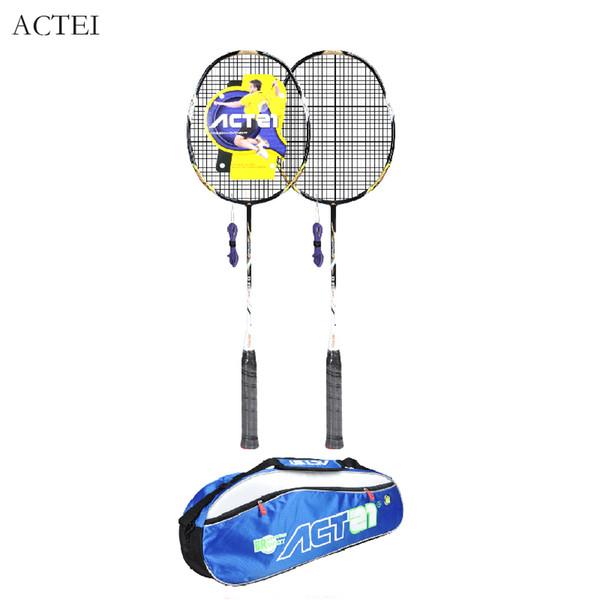 ACTEI BR901 In fibra di carbonio integrale racchetta palo durevole filo battendo 28 libbre professionale badminton racchetta difesa badminton