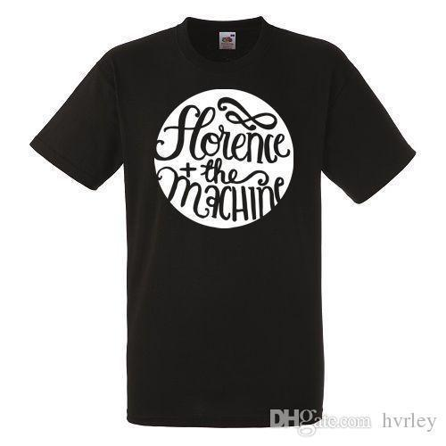 Free shipping 2018 Florence and the Machine Logo Mens Black Rock T-shirt NEW Sizes S-XXXLSummer Casual Clothing