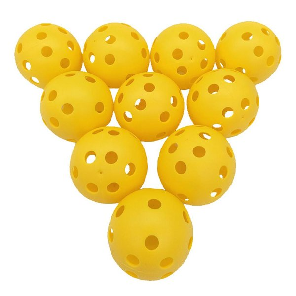 10 PCS Esferas Múltiplas de Golfe Prática Bola Pickleball Bola de Golfe Interior Para Pitching Batting Throwing Catching Prática