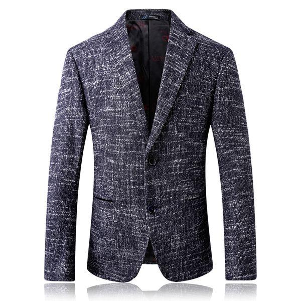 Clásico Slim Fit Blazer Masculino 2018 Nueva llegada Business Blazer Men Party Jacket Style Coreano Formal Men Casual Coat