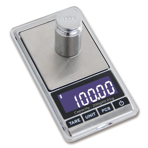 ACCT Mini 200g * 0.01g Digital Scale Portable Electronic Jewelry Diamond Scales Pocket Balance High Precision Weighting Tools LCD Display