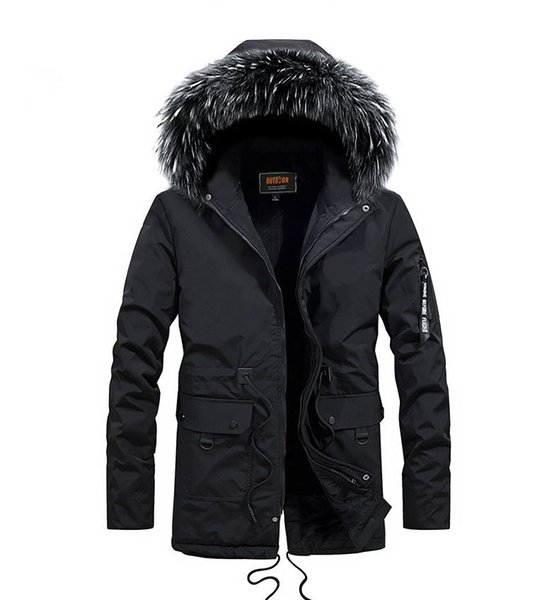free shipping New Design 2018 Plus size L-5XL Long Winter Men Jacket With Fur Hood Men's Clothing Casual Jackets Thickening Parkas Male Coat