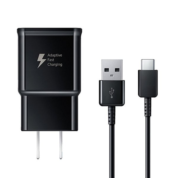 Fast Charger Adaptive Travel Wall Charger 1M USB Cable Type-C For Samsung S6 S7 Edge S8 S9 Plus Note 8 Note 9