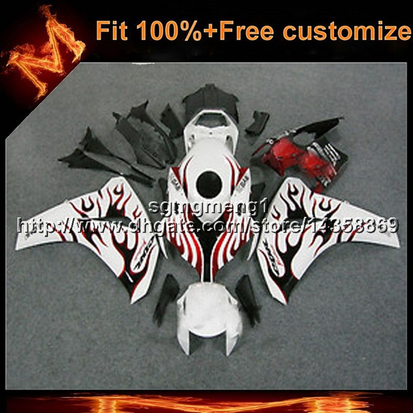 23colors+8Gifts Injection mold red flames Body Kit motorcycle cowl for HONDA CBR1000RR 20122013 CBR 1000 RR ABS Plastic Fairing