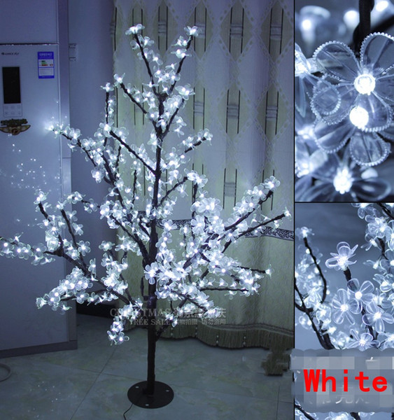 LED Cherry Blossom Tree Light 576 pezzi Lampadine a LED altezza 1,5 m 110 / 220v Sette colori per opzione uso esterno antipioggia