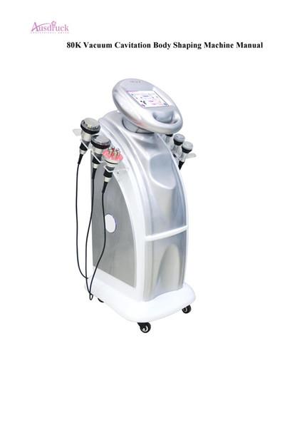 2018 Nouveau 80K + 40k ultrasons cavitation sous vide Multipolaire visage du corps RF sous ultrasons gelés beauté minceur machine