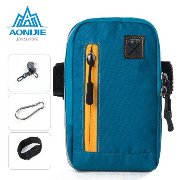 AONIJIE E845Universal Arm Bag Cases For iPhone 6 inch Coins Purse Sports Phone Mobile Wallet Key Package With Arm Shoulder Strap