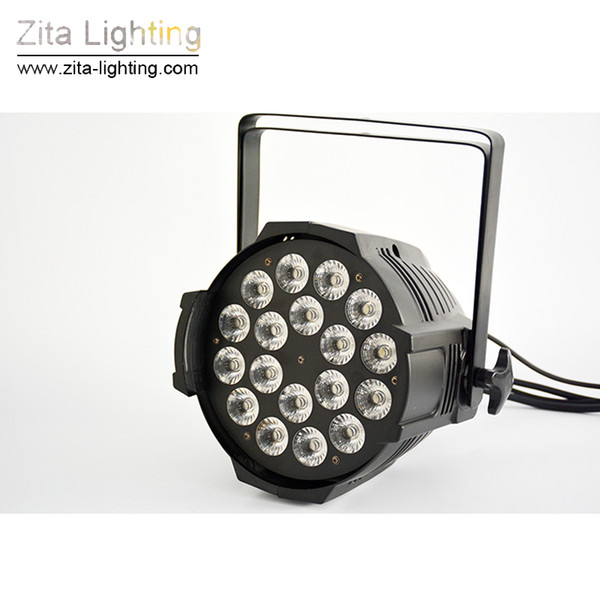 2Pcs/Lot Zita Lighting LED Par Lights Par Can Stage Lighting Par64 Wall Washer RGBW 4IN1 18X10W DMX512 Disco DJ Building Tower Effect