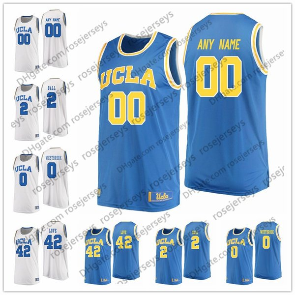 Custom 2019 NCAA Bruins College Basketball blue white Stitched Any Name Number #1 Moses Brown 13 Kris Wilkes 4 Jaylen Hands Jerseys S-4XL