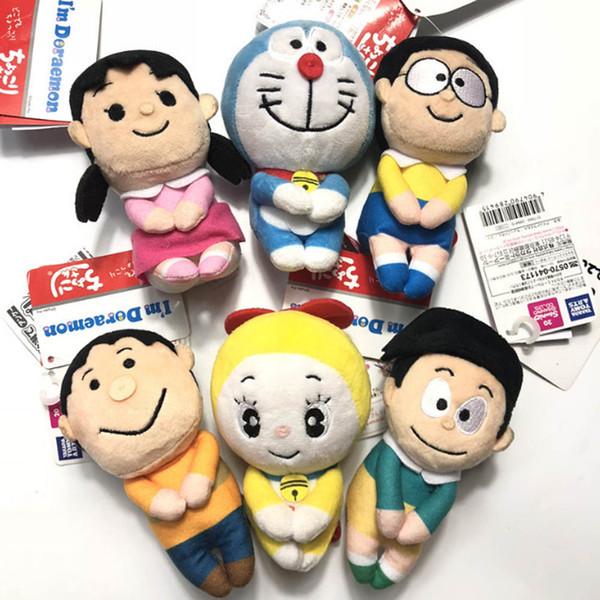 EMS Sitting Doraemon Nobita Shizuka-chan Sneech Doramichan Tomy Big G 12CM Plush Doll Stuffed Pendant Best Gift Soft Toy