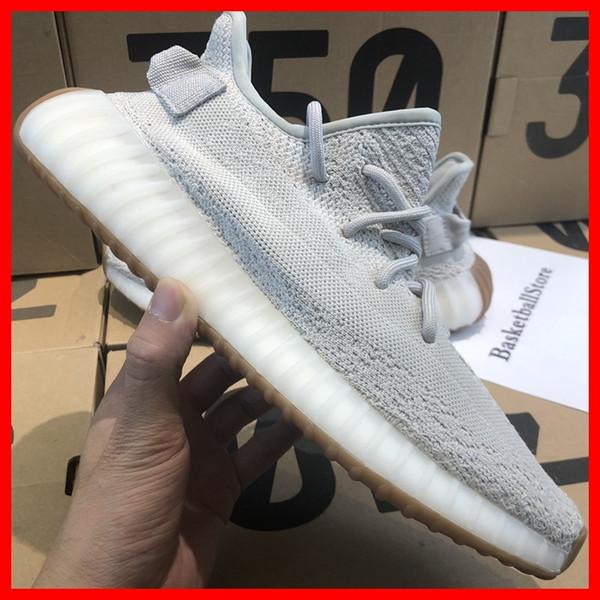 de1ec80819c9 2018 eezy 350 V2 Mens Running Shoes Butter Sesame Beluga 2.0 Static Zebra  Cooper Blue Tint