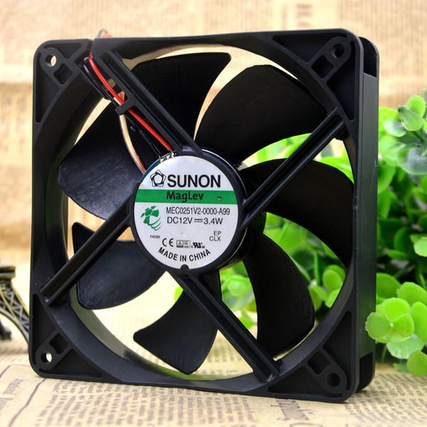 Для новых оригинальных SUNON MEC0251V2-0000-A99 12 В 3.4 Вт 12 СМ 12025 2-проводной вентилятор
