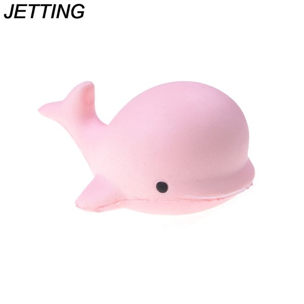 Squeeze Jumbo Squishy Kawaii Cute Dolphin Animal Phone Straps Squishies Slow Rising Scented Bread Cake Kid Toy Gift Wholesale