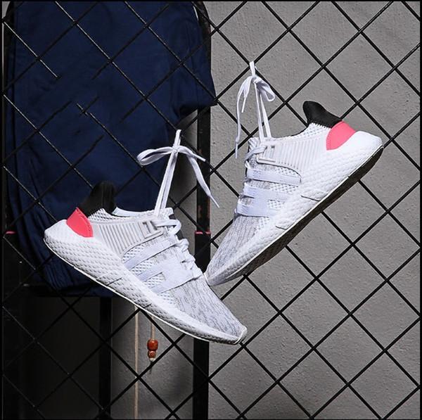 2018 EQT 93 17 мужчины кроссовки Поддержка будущего черный белый розовый герб Турбо Красный женщины спортивные кроссовки нас 5-10