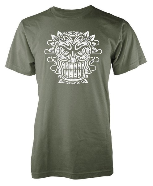 Tiki Mask Maori Wooden Carving Adult T Shirt