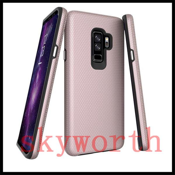 Para iphone x 8 7 6 s plus samsung galaxy s8 s9 mais fino casos de telefone hybird capa super boa qualidade triângulo case