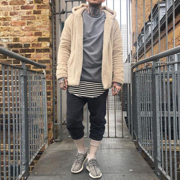 Hoodie Streetwear Kanye West Kleidung Fashion Hip Hop Skateboard Urban Kleidung Swag Herren Hoodies Hooded Cardigan