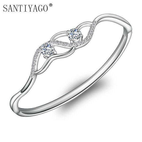 Fashion Jewelry Women's Zircon ornaments wholesale Korean Edition star fashion bracelet Clear Zircon Bangle Women
