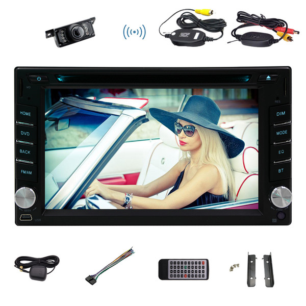 Wireless Camera Android6.0 Mashmallpw 6.2'' HD Multi-Touch Screen car DVD Player 1080p HD Video Play Car GPS Navigation Map Car Monitor