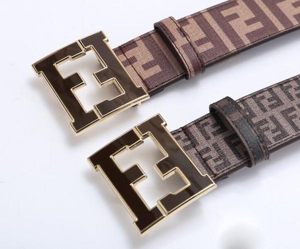 2018 cinturones de diseño para hombre nuevos cinturones de diseño de marca para hombre de alta calidad F hebillas para hombres mujeres cinturón de cuero genuino