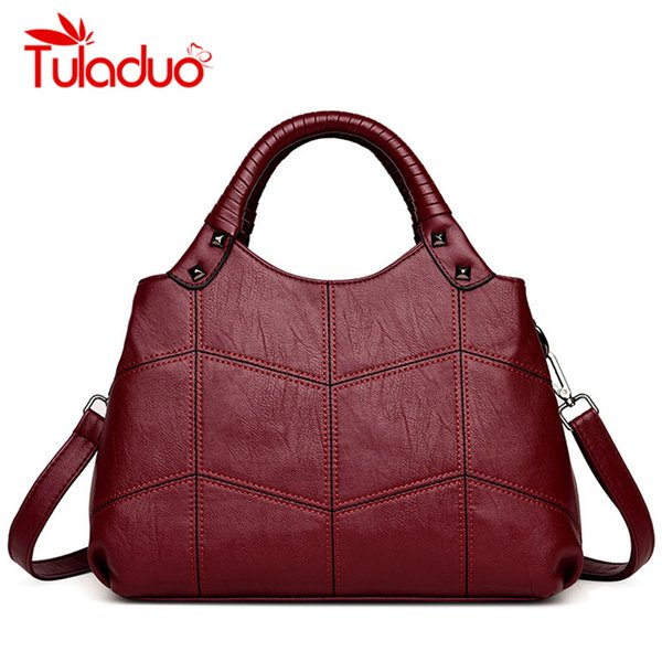 Designer Womens Bag Artificial Leather Handbags Knitting Small Black Ladies Shoulder Bags Women 2018 Totes Messenger Bags bolsaY1883107