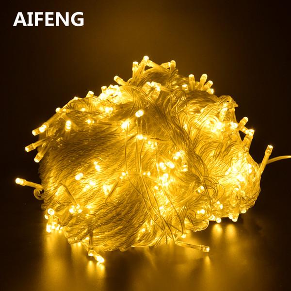 AIFENG Outdoor noël led guirlande lumineuse 100M 50M 30M 20M 10M 5M lumière de fée décorative lumières de vacances éclairage arbre guirlande