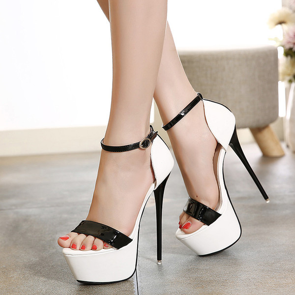 best selling Big size 34 to 40 41 42 43 44 45 women platform ultra high heels pumps party club dance shoes 16cm