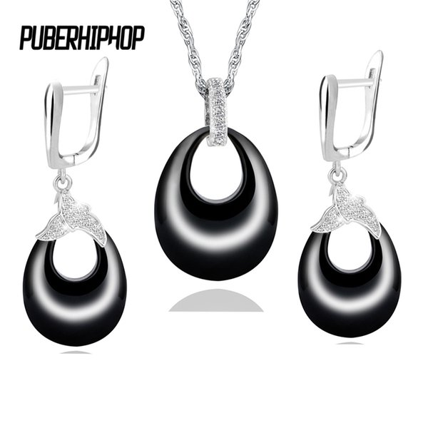 2017 Hot Statement Jewelry Set Good Quality Healthy Ceramic Necklace & Earring With Crystal Jewelry Set For Women Christmas Gift