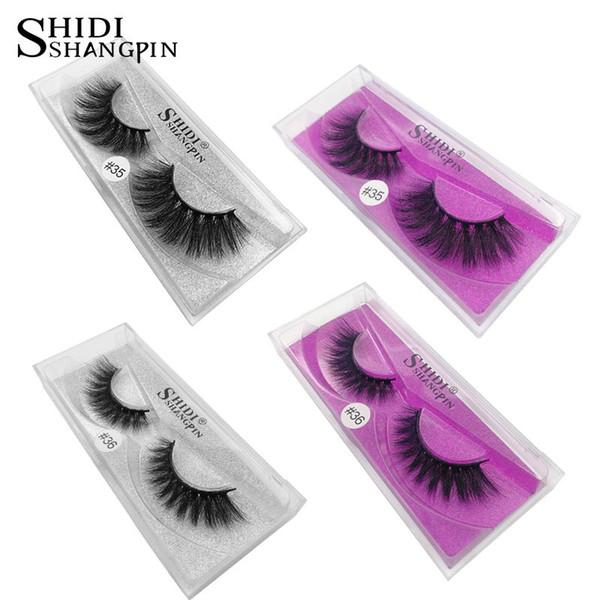 Natural Long 3d Mink Eyelashes Women Fashion Cross Mink Lashes Hand Made Makeup Sexy False Lashes
