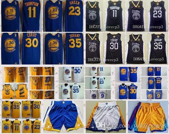 3515b11e4 Golden State Warriors 30 Stephen Curry 35 Kevin Durant Jersey 23 Draymond  Green 11 Klay Thompson