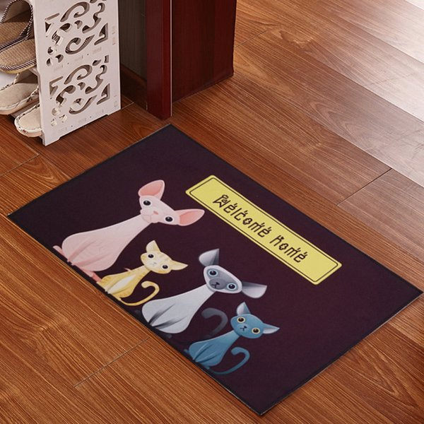 Kitchen Long Rug Bedside Carpet Creative Bedroom Floor Mat Antiskid Lovely Cartoon Foot Pad Mat Doormat jogo de tapetes de banheiro Antislip