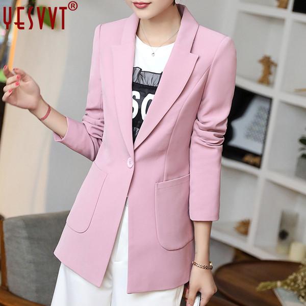 yesvvt autumn women blazers and jackets 2017 full sleeve blazer women black long blazer women casual coat size s m l xl xxl xxxl L18101303
