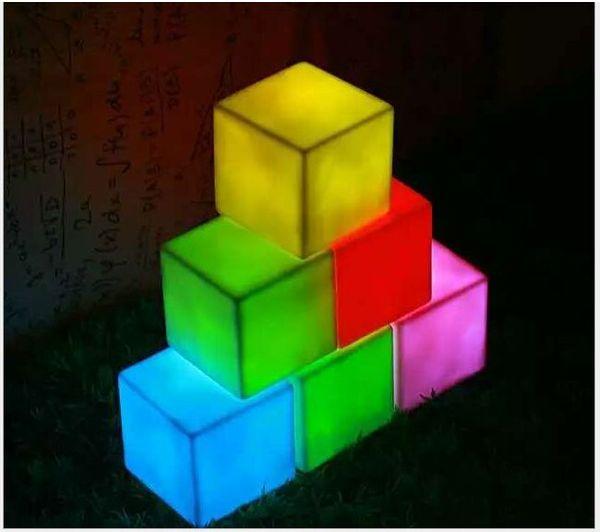 best selling LED Mini Square Flash Night Lights Lamp Kids Flash Lights Toys Festival Party Home Decoration Lighting