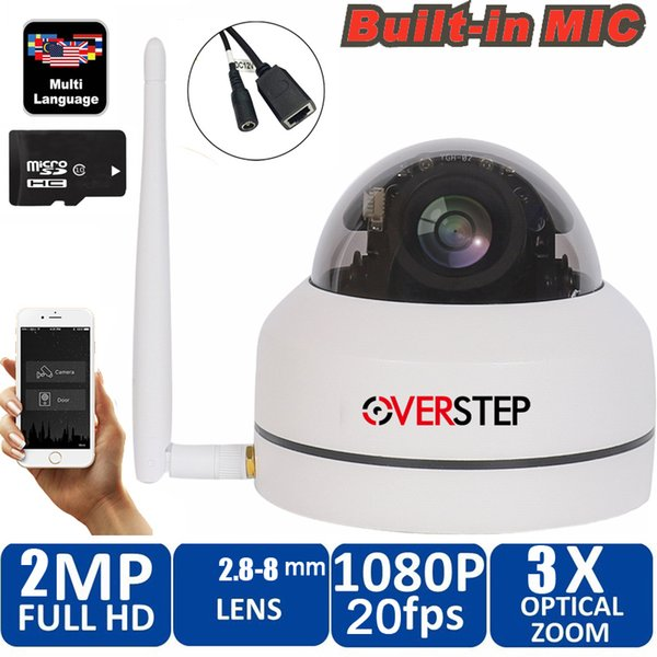 Security PTZ Cameras Dome Pan/Tilt/Zoom 3X Camera Wifi Outdoor Network Wireless 1080P P2P Mini Wi-fi Camera with micphone