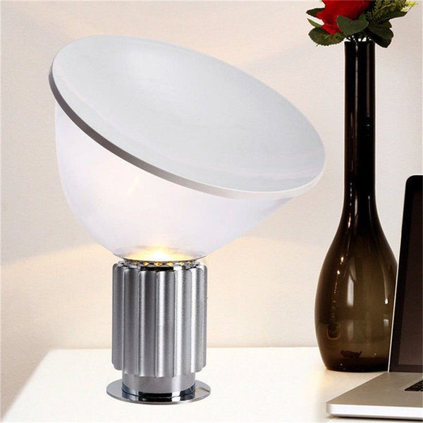 Small Desk/Table Lamp Achille Castiglioni Style Silver/ Black for Living room Bedroom Study Home Decoration B020