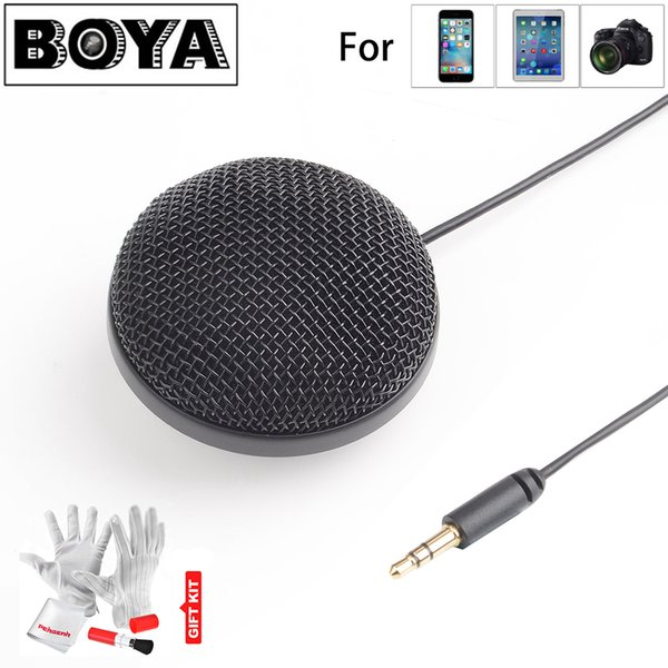 BOYA BY-MM2 Omnidirectional Condenser Stereo Microphone for iPhone Canon Nikon for Sony DSLR Camera Panasonic Camcorder