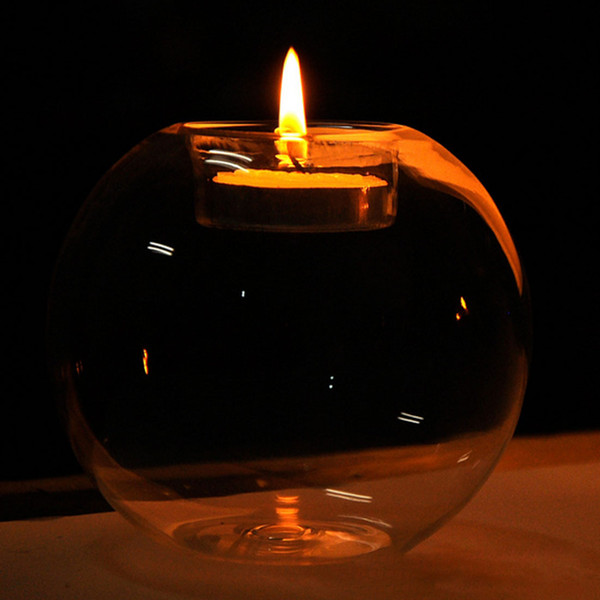 top popular New Portable Round Hollow Classic Crystal Transparent Glass Candle Holder Wedding Bar Party Home Decor Candlestick 2021