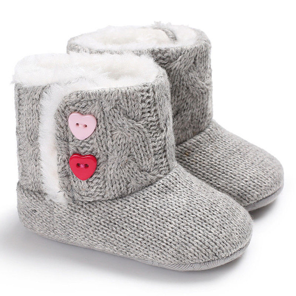 Winter Baby Girls Boys Crochet Knit Woolen Soft bottom Toddler Snow Boots Shoes fashion novel warm trend cute wild lovely