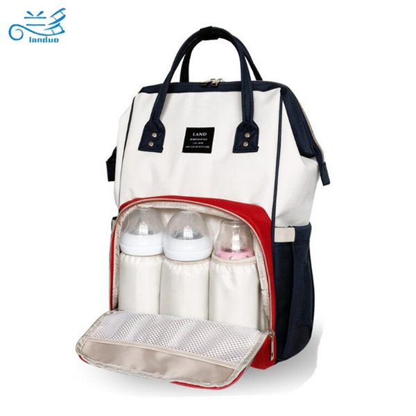 Land Nappy Bags Big Capacity Baby Diaper Bag Waterproof Baby Care Nappy Changing Bag Fashion Mother Backpack For Travel