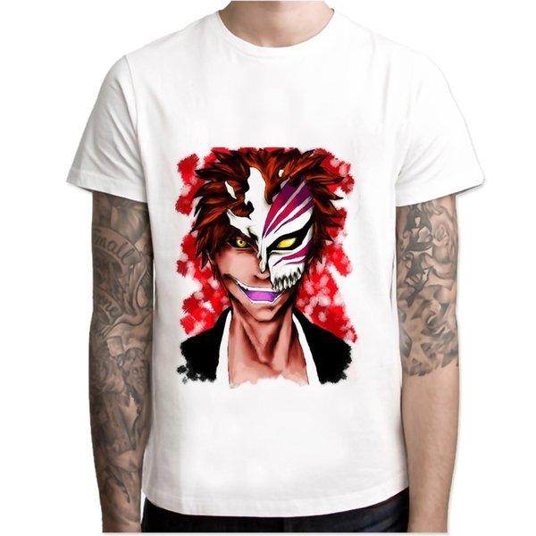 Bleach ichigo camiseta Hombre Imprimir Camisetas Moda Imprimir Camisetas manga corta O cuello Tees M7R1068