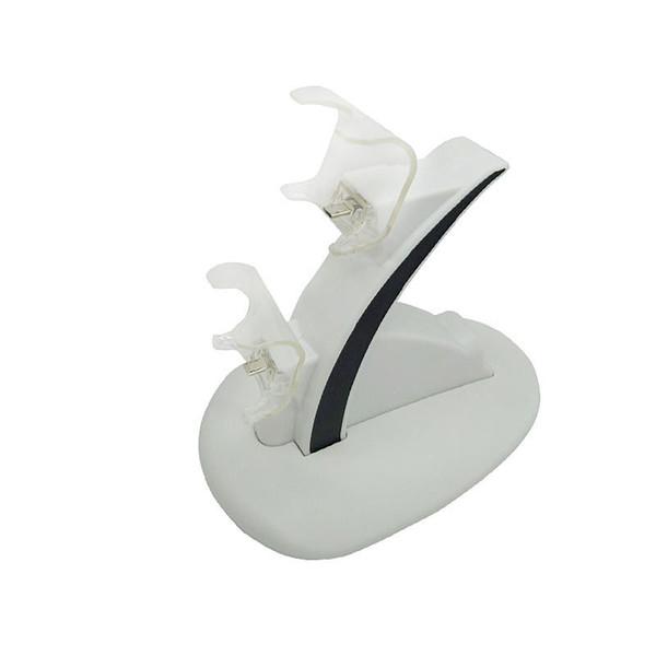 Venta caliente Dual USB Charge Dock Station Handle Cradle Double Charging para Sony Playstation 4 Controller PS4 Pro Slim Juegos Accesorios + tapas