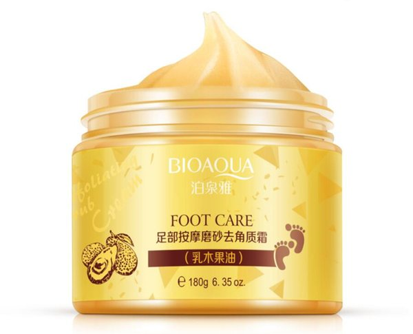 New BIOAQUA 24K GOLD Shea Buttermassage Cream Peeling Renewal Mask Baby Foot Skin Smooth Care Cream Exfoliating Foot Mask