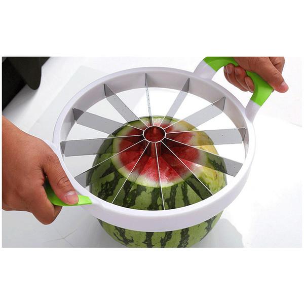 Cuisine Pratique Outils Creative Pastèque Trancheuse Melon Cutter Couteau 410 Acier Inoxydable Coupe De Fruits Trancheuse Whitout Box