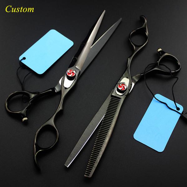 Custom upscale Japan 7 inch pet dog grooming hair scissors set dog cutting shears scissor thinning berber hairdressing scissors