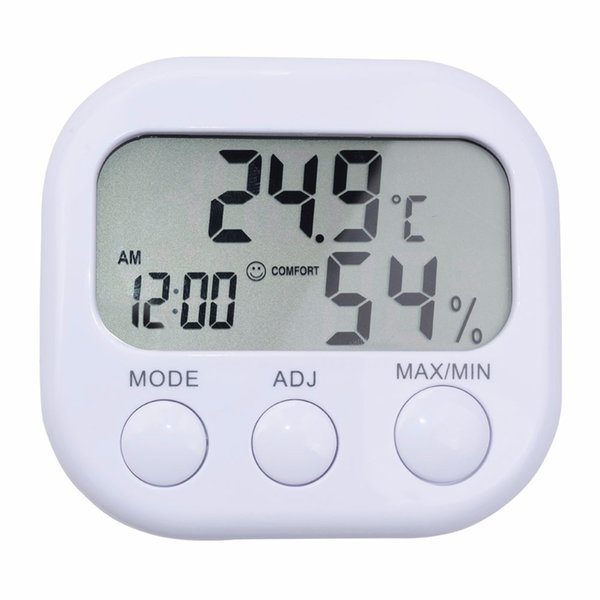 Digital LCD Indoor Thermometer Humidity Hygrometer Temperature Moisture Meter TA638 Clock Indoor Temperature Monitor With LCD Display