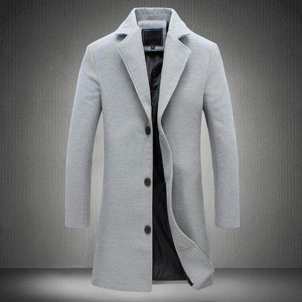 MRMT 2018 Jaquetas masculinas da Marca Longo Cor Sólida Single-breasted Trench Coat Ocasional Casaco para Masculino Jaqueta Outer Desgaste Roupas